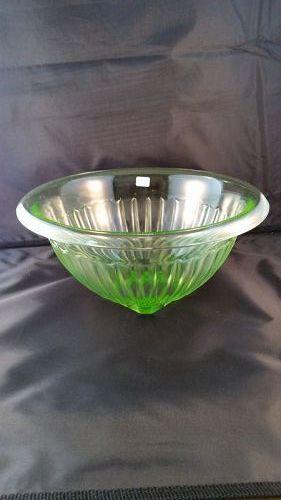"""Hocking green mixing bowl - 10 3/4"""""""