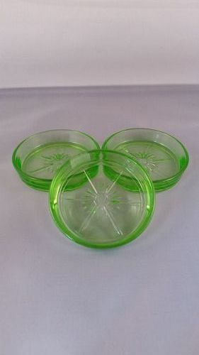 Federal green coaster 3 pc.
