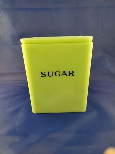 Jeannette lite Jadeite 48 oz Sugar canister As Is