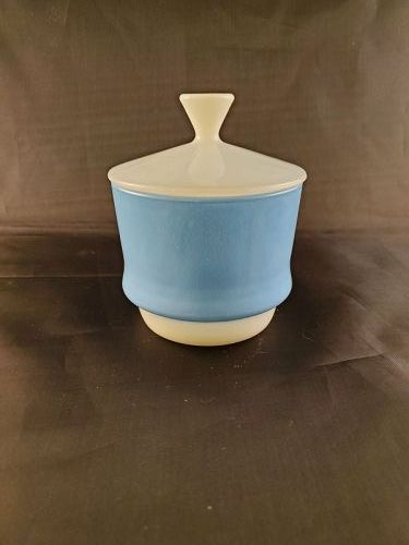 Firer King Blue Mosaic sugar bowl with cover