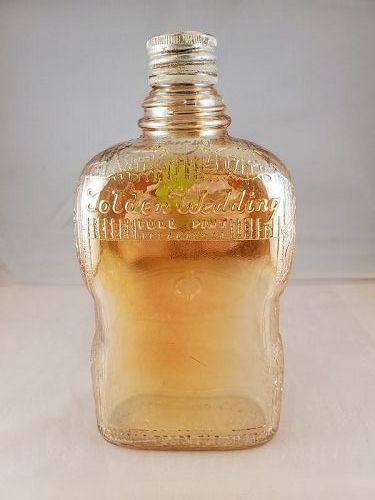 Carnival glass Tolden Wedding bottle pint size