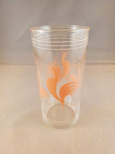 Pink Rooster glass