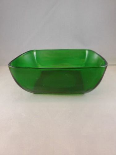 Fire King Forest Green Charm Salad Bowl