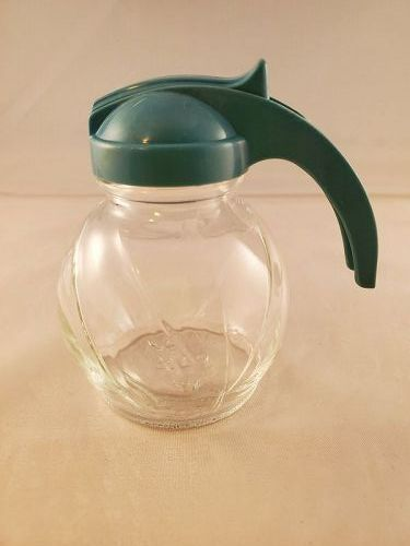 Hazel Atlas Blue handle small Syrup Pitcher
