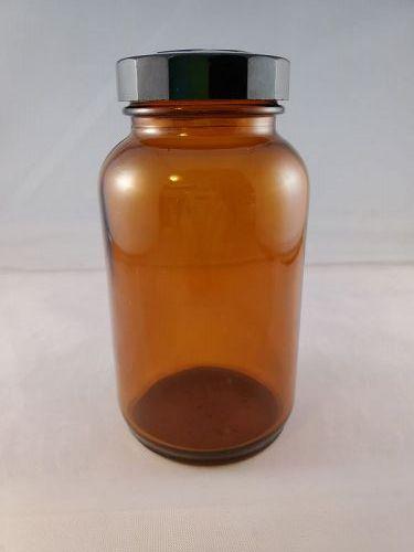 Anchor Hocking Brown Merck Medicine Bottle