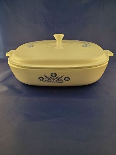 Corning Ware 10 inch Skillets with Solid Cornflower Cover