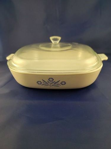 Corning Wave Cornflower 9 1/2 inch Skillet with cover
