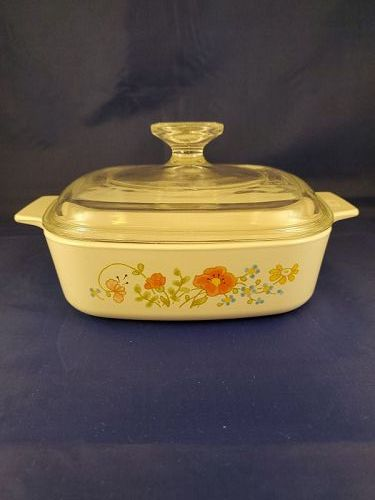 Corning Ware Wildflower 1 Quart Casserole with cover