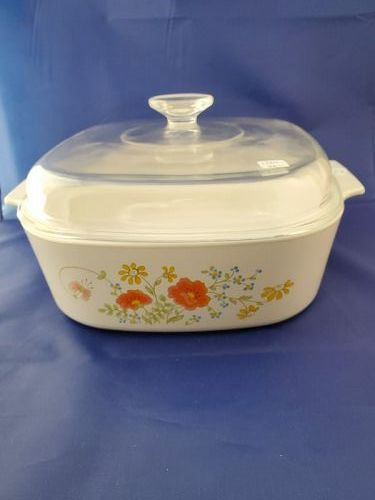 Corning Ware Wildflower 4 quart casserole with cover