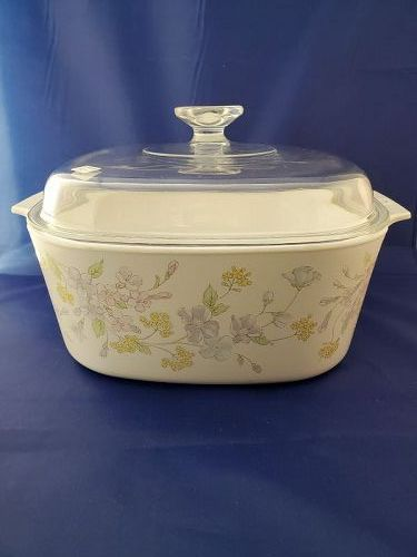Corning Ware Pastel Bouquet 5 Liter Casserole with cover