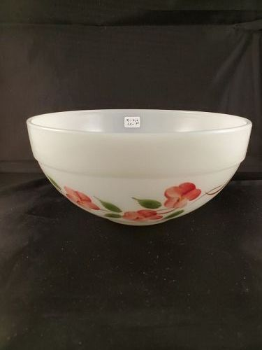 Fire King Peach Blossom  7 1/4 inch Colonial Band  Mixing Bowl
