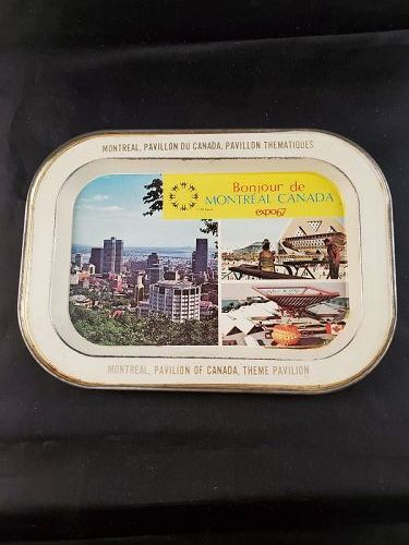 Expo 67 Montreal Canada 5 by 7 inch metal tray
