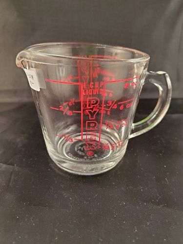 Pyrex One Cup Measure with Red Lettering