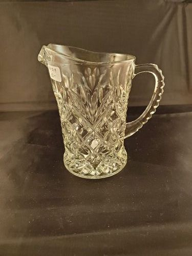 Fire King Clear Pineapple Milk Pitcher