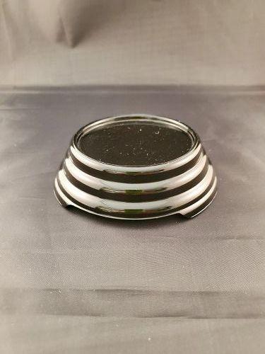 Black glass base