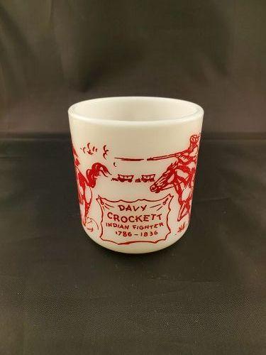 Davy Crockett Red Mug