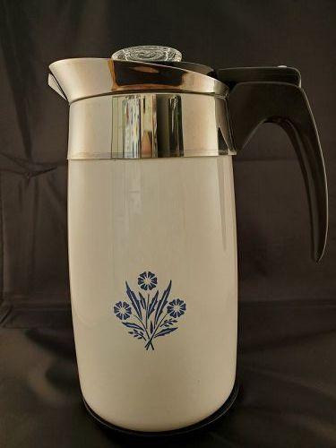 Corning ware 10 cup electric coffee pot , Cornflower P-80