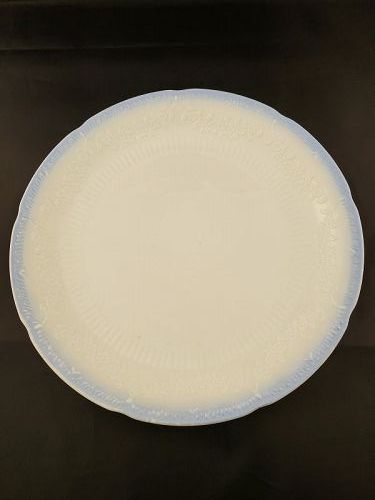 Fire King Alice Dinner Plate with Blue trim