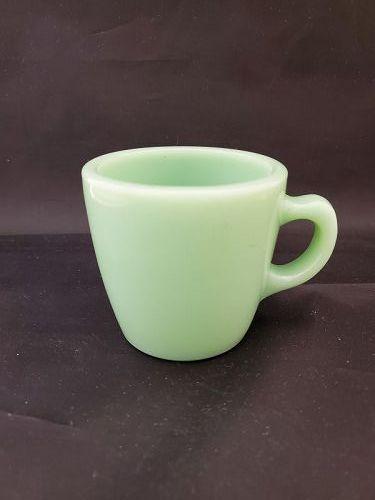 Fire King R/W jadeite mug G-215