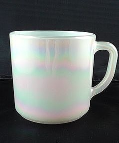Federal White Iridescent 9 1/2 oz Mug