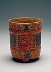 Maya Polychrome Tripod Cylinder