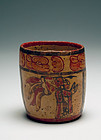 Maya Polychrome Cylinder depicting Chief