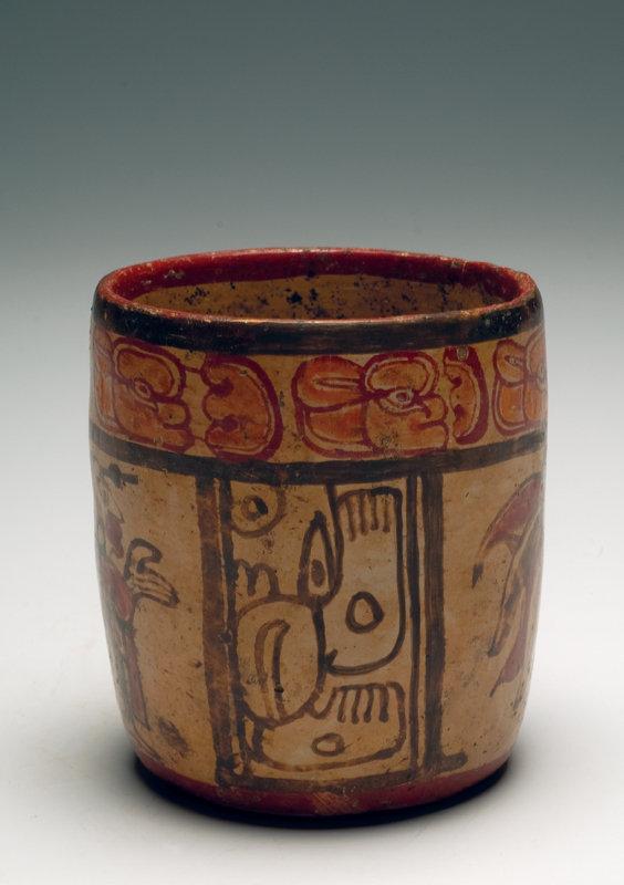Maya Polychrome Cylinder depicting Chief