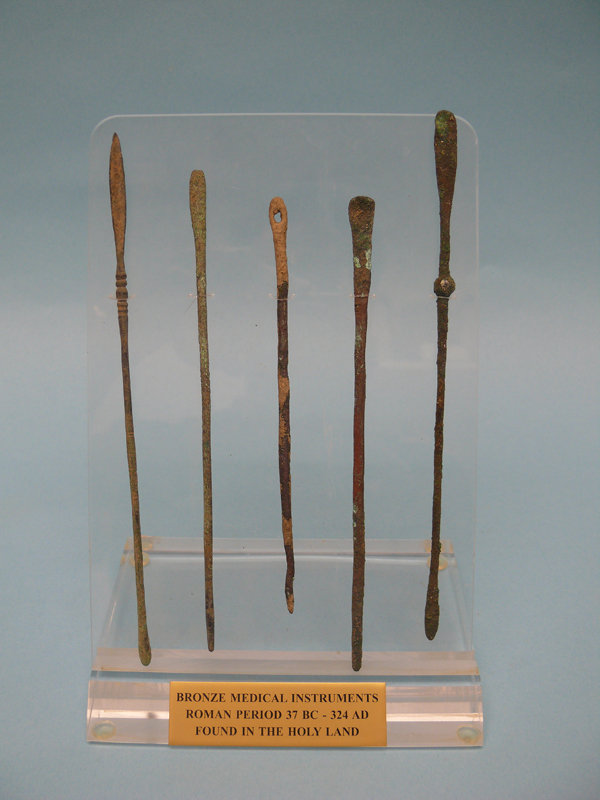 Set of Five Roman Bronze Medical Instruments