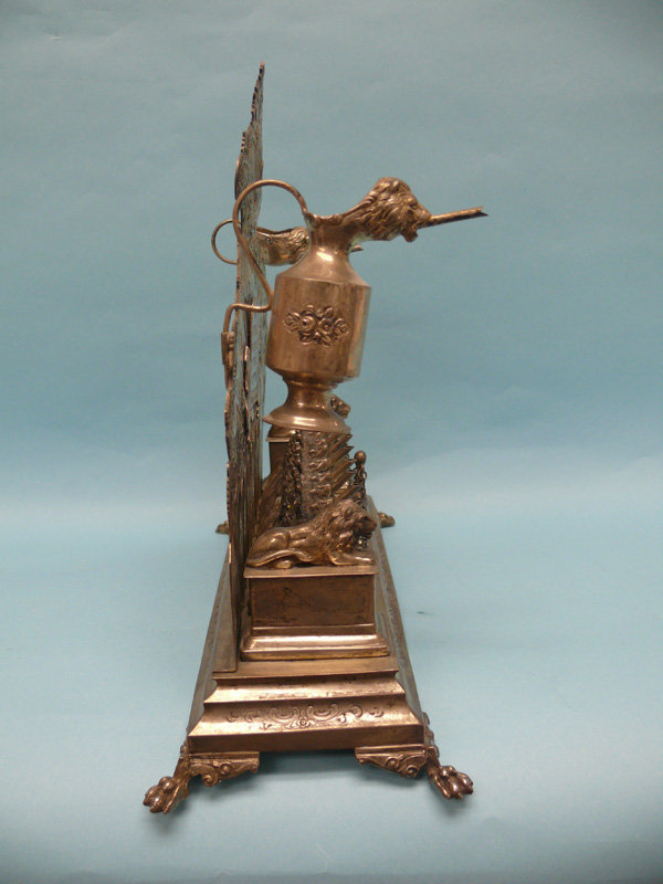Antique German Silver Chanukah Lamp