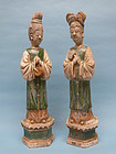 Ming Dynasty Sancai Glazed Court Attendants