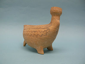 Cypriot Pottery Zoomorphic Avian Bichrome Juglet