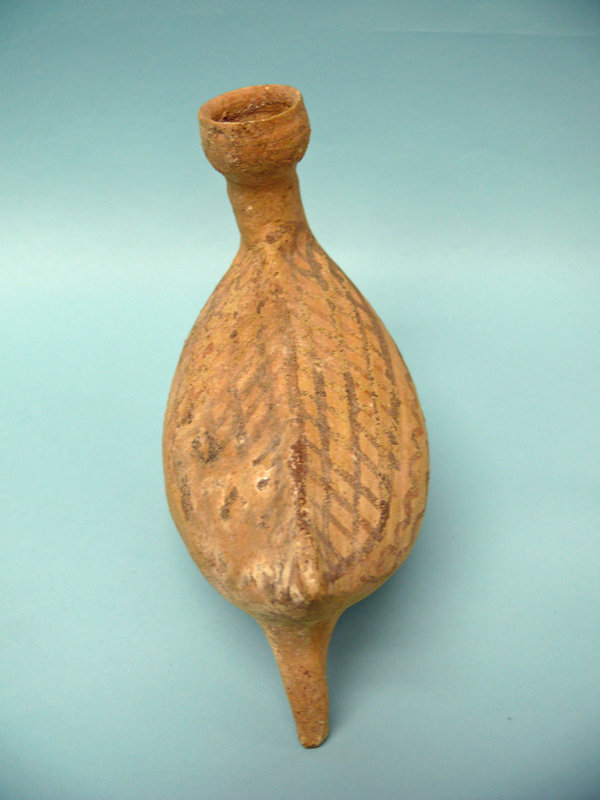 Cypriot Pottery Zoomorphic Avian Bichrome Juglet