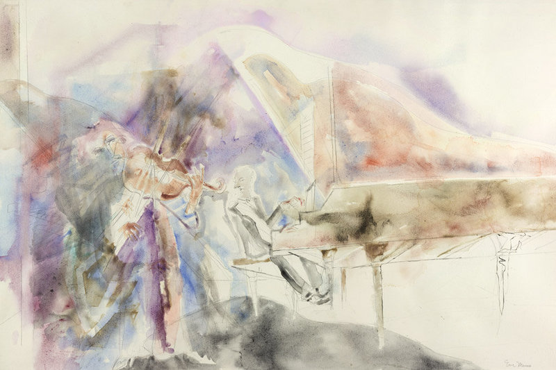 Violin Accompanied By Piano, by Eve Menes