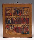 18th Century Russian Icon on Wood Panel