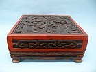 Chinese Wooden Lacquer Cosmetic Box with Dragon Motif
