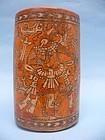 Rare Maya Chama Polychrome Cylinder Vessel