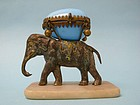 Palais Royal Opaline French Blue Glass Elephant Howdah