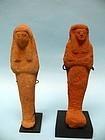 Two Egyptian Composition Pottery Ushabti