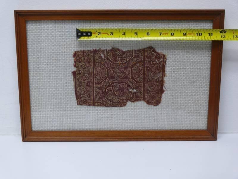 Six Framed Egyptian Coptic Textile Fragments