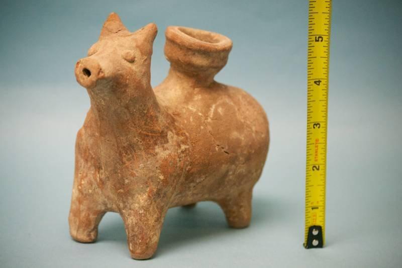 Zoomorphic Iron Age III Terracotta Juglet