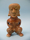 Nayarit Chinesco  Pottery Figure of a Squatting Female