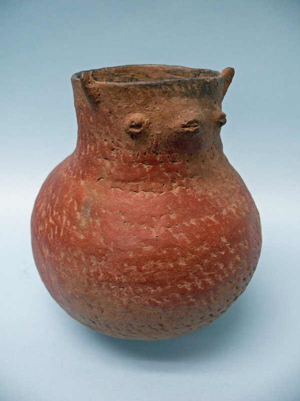Roosevelt Red Ware Pottery Duck Effigy Jar