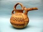 Persian Bridge Spouted Pottery Tepe Sialk Jar