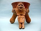 Mixtec Pottery Figural Incensario, or Censer