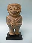 Chimu Inca Pottery Figural Kero Effigy Vessel
