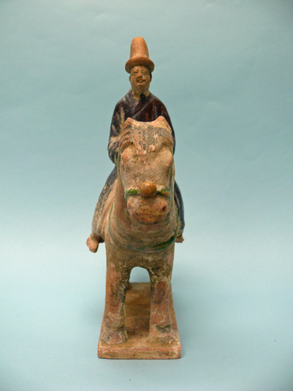 Two Early Ming Dynasty Pottery Equestrians