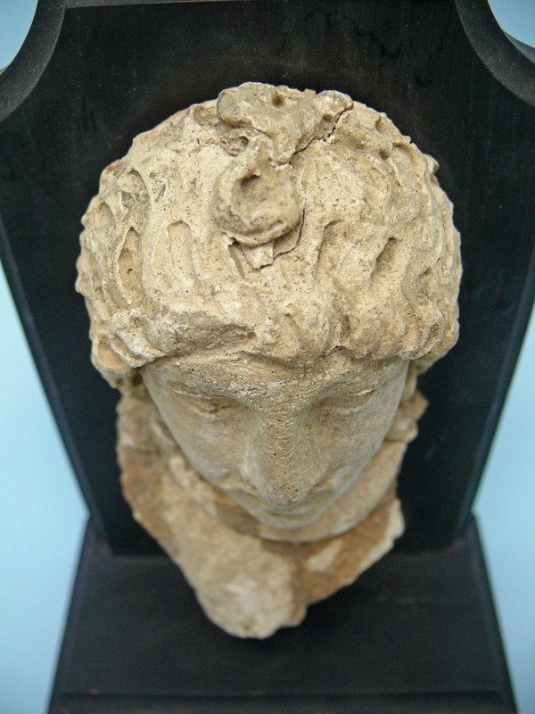 Gandharan Stucco Fragment, Head of a Man