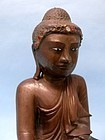 Burmese Seated Bronze Buddha