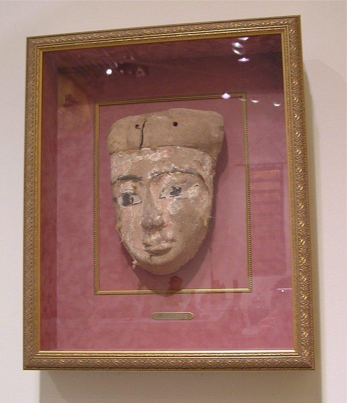 Egyptian Sarcophagus Cartonnage Mummiform Mask