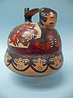 Nazca Pottery Bridge Vessel of a Mythical Being, Pretty Lady